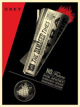 "Shepard Fairey ""Damaged Times"" Obey Print"