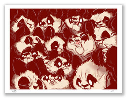 "Aaron Woes Martin ""FURnFANG 19"" Blood Variant Print - ""Angry Woebots"""