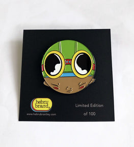 Hebru Brantley Flyboy Limited Edition Pin - Silent Stage Gallery