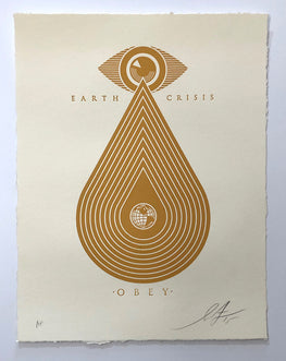 "Shepard Fairey ""Earth Crisis"" Obey Letterpress AP"
