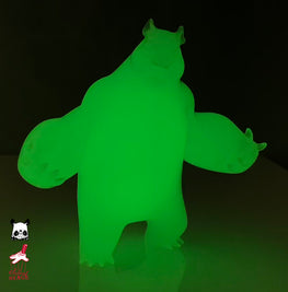 "Aaron Woes Martin ""Angry Woebots"" - Glow in the Dark Panda King 3 Mini"