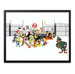 "ABCNT - ""Free The Kids"" Giclee Print - Silent Stage Gallery"