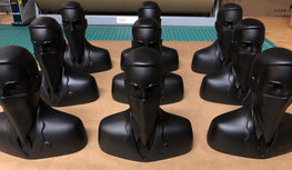 "ABCNT - ""ABCNT"" Flat Black Resin Sculpture"