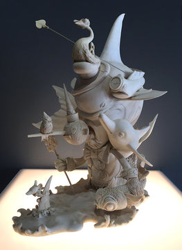 "Greg Craola Simkins ""Beyond The Sea"" Fine Art Sculpture - Silent Stage Gallery"