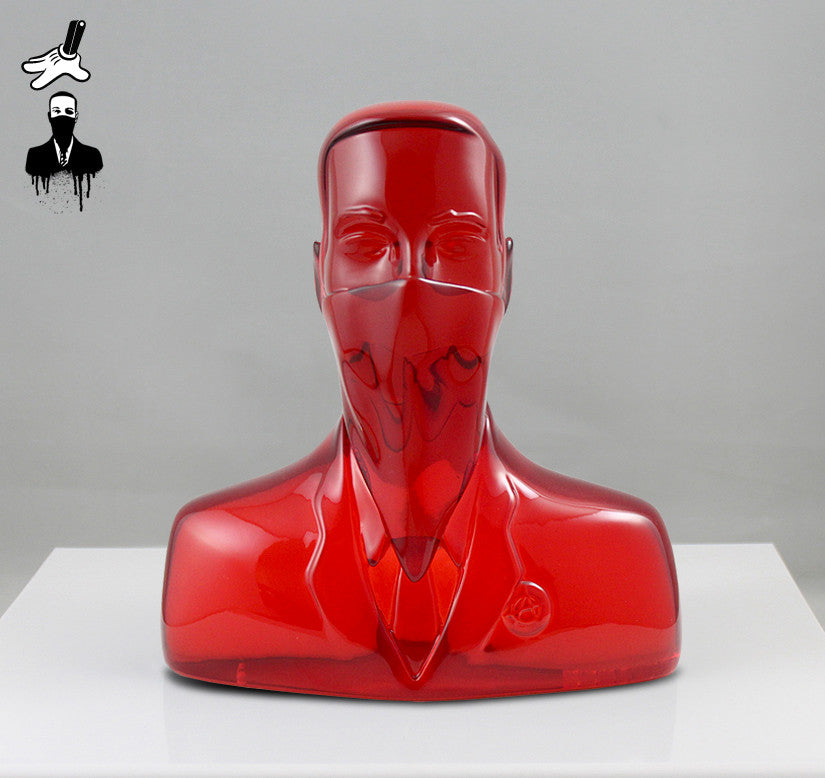 "ABCNT - ""ABCNT"" Clear Red Resin Sculpture"