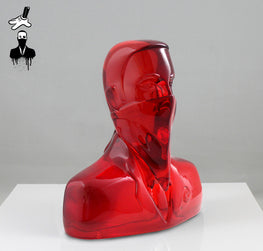 "ABCNT - ""ABCNT"" Clear Red Resin Sculpture - Silent Stage Gallery"