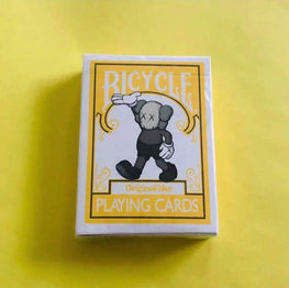 Kaws Original Fake Yellow Bicycle Playing Cards