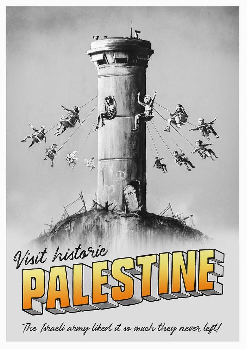 Banksy Walled Off Hotel Palestine Tower Poster