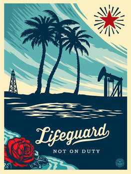 "Shepard Fairey ""Lifeguard Not On Duty"" Obey Large Format Print"