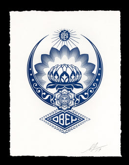 "Shepard Fairey ""LOTUS ORNAMENT"" Obey Letterpress AP"
