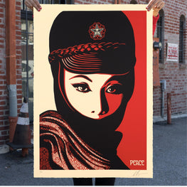 "Shepard Fairey ""Mujer Fatale"" Obey Large Format Print"