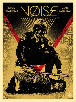 "Shepard Fairey ""Noise - State Violence State Control"" Obey Print"