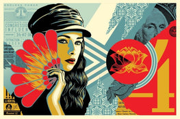 "Shepard Fairey ""Fan The Flames"" Obey Large Format Print"