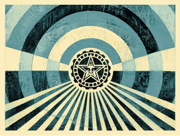 "Shepard Fairey ""Tunnel Vision"" Blue Variant Obey Print"