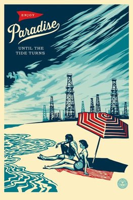 "Shepard Fairey ""Paradise Turns"" Obey Large Format Print"