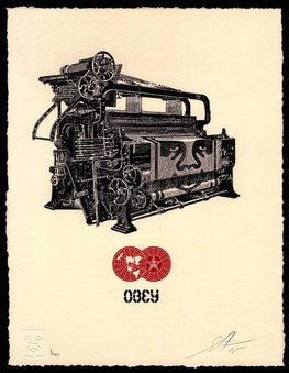 "Shepard Fairey ""Printing Press"" Obey Letterpress AP"