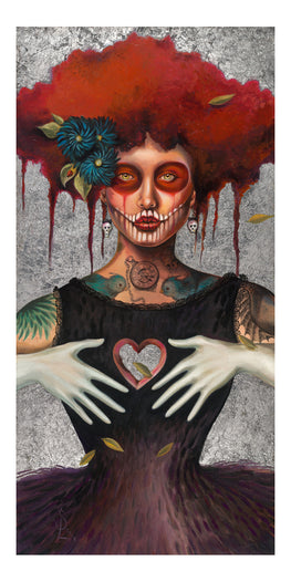 "Sylvia Lizarraga ""Heartless"" Giclee' Print - Silent Stage Gallery"