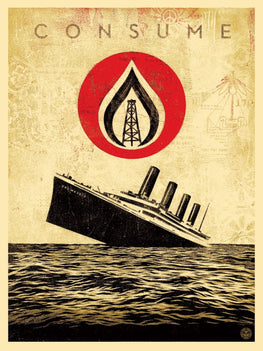 "Shepard Fairey ""Unsinkable Consumption"" Obey Print AP"
