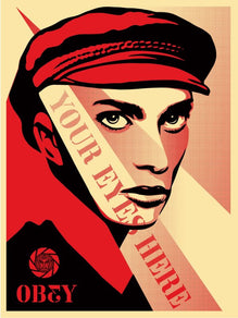 "Shepard Fairey ""Your Eyes Here"" Obey Print AP"