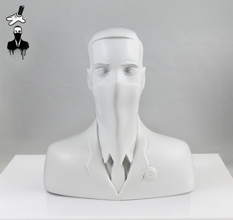 "ABCNT - ""ABCNT"" Ivory White Resin Sculpture"