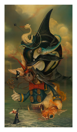 "Greg Craola Simkins ""Beyond The Sea"" Fine Art Giclee' Print - Silent Stage Gallery"
