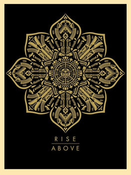 "Shepard Fairey ""Raise The Caliber Rise Above"" Obey Print AP"