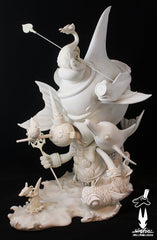 "Greg Craola Simkins ""Beyond The Sea"" Fine Art Sculpture"