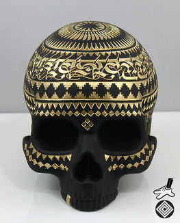 "Cryptik ""Memento Mori"" Skull Sculpture - Silent Stage Gallery"