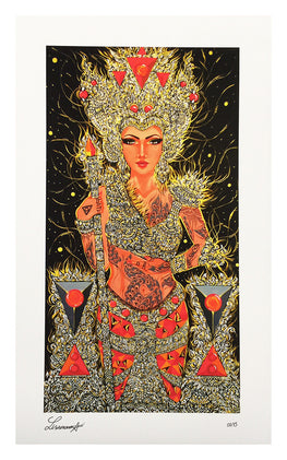 "Lisa Mam - ""Golden Empresse"" Giclee Print - Silent Stage Gallery"