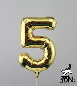 "Fanakapan ""Hi5"" Gold Balloon Sculpture"