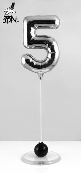 "Fanakapan ""Hi5"" Chrome Balloon Sculpture - Silent Stage Gallery"