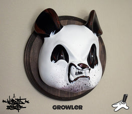 "Aaron ""Angry Woebots"" Martin - ""Growler"" Panda Head - Silent Stage Gallery"