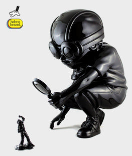 "Hebru Brantley Flyboy ""Fry"" Gloss Black Edition - Silent Stage Gallery"