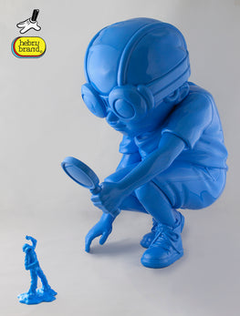 "Hebru Brantley Flyboy ""Fry"" Gloss Blue Edition - Silent Stage Gallery"