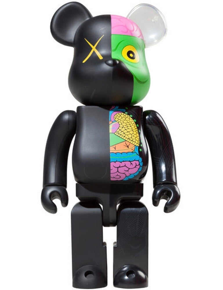 Kaws 400% Black Dissected Bearbrick