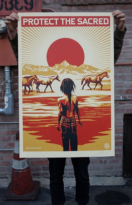 "Shepard Fairey ""Protect The Sacred"" Obey Print 24x36"