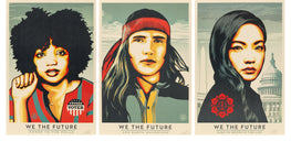 "Shepard Fairey ""We The Future"" 24"" x 36"" Set Signed Obey Print"