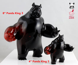 "Aaron ""Angry Woebots"" Martin - 4"" Panda King 3 Mini Nightmare Colorway - Silent Stage Gallery"