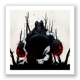 "Aaron Woes Martin ""Angry Woebots"" - Panda King 3 Nightmare Giclee Print - Silent Stage Gallery"
