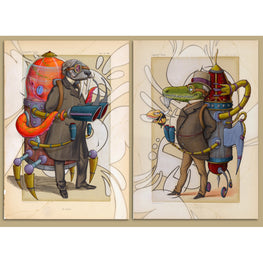 "Scribe ""Vanity Fair"" Printers Proof Print Set - Silent Stage Gallery"