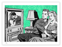 "Rich Simmons ""The Evening News"" Mint Variant Fine Art Print"