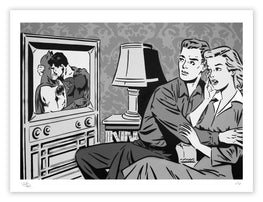 "Rich Simmons ""The Evening News"" Monochrome Variant Fine Art Print"