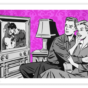 "Rich Simmons ""The Evening News"" Purple Variant Fine Art Print"