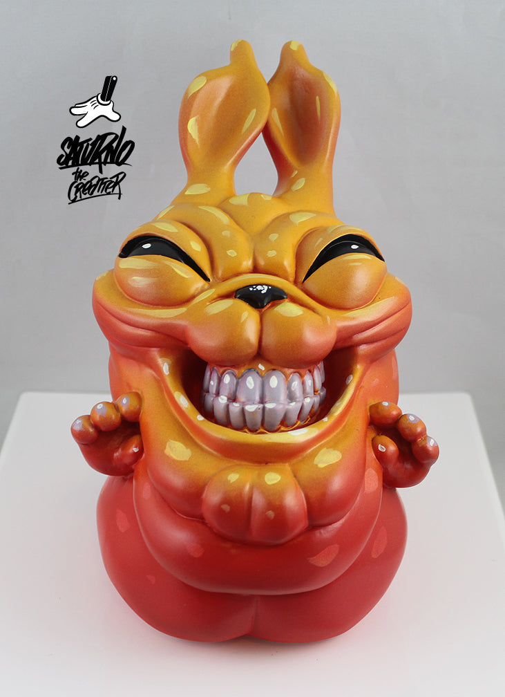 "Saturno ""Naughty Rabbit"" 12 Hand Painted Resin Sculptures"
