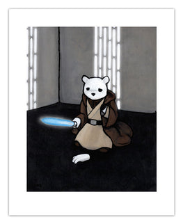 "Luke Chueh ""The Force Isn't With Me"" Print - Silent Stage Gallery"