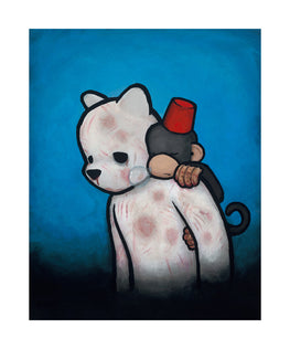 "Luke Chueh ""Monkey On My Back"" Sleeping Burden Giclee Print - Silent Stage Gallery"