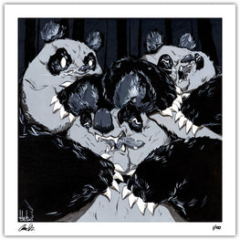 "Aaron ""Angry Woebots"" Martin - ""In The Dark"" Giclee' Print - Silent Stage Gallery"