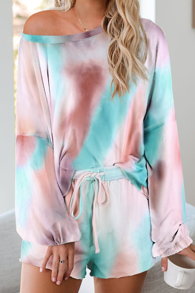 Tie-dye Pajamas Loungewear Set