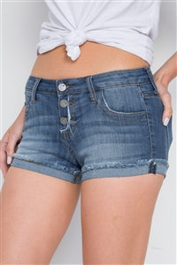 Denim Low-Rise Shorts