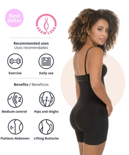 Seamless Strapless Thermal Full Colombian Body Shaper